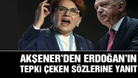Akşener'den Erdoğan'ın tepki çeken sözlerine yanıt