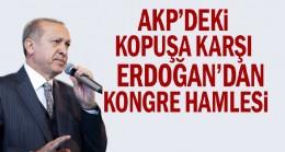 AKP'deki kopuşa karşı Erdoğan'dan kongre hamlesi