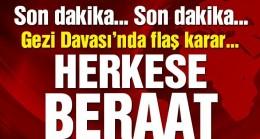 Gezi Parkı davasında herkese beraat