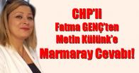 CHP'li Fatma Genç'ten Metin Külünk'e Cevap