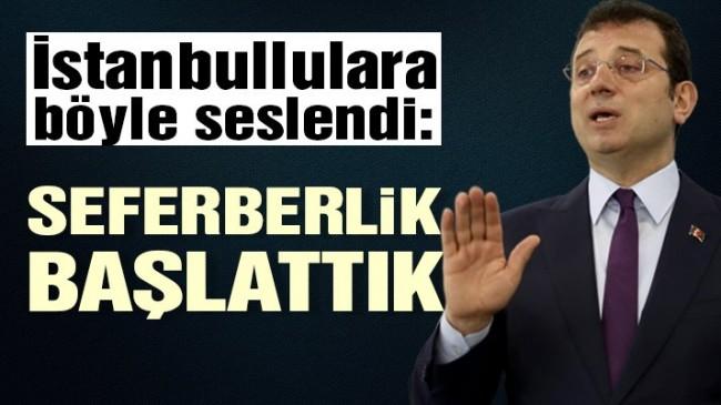 İmamoğlu İstanbullulara böyle seslendi