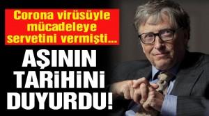 Bill Gates'ten corona virüsü aşısı hakkında flaş açıklama