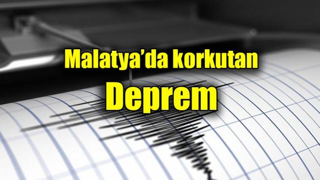 Malatya'da korkutan deprem