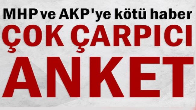 Çarpıcı anket… MHP ve AKP'ye kötü haber