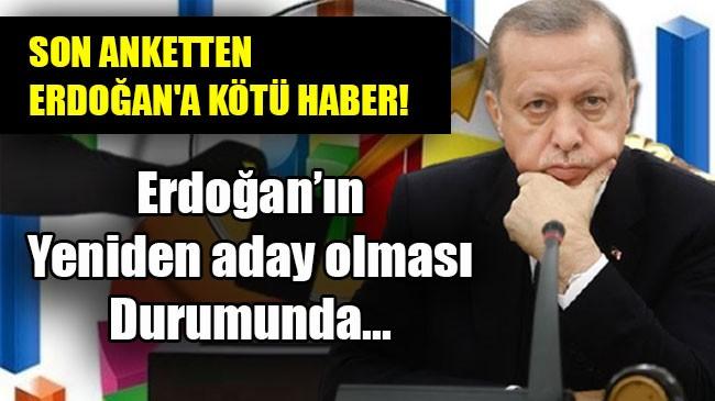 Erdoğan'ın  Yeniden aday olması  Durumunda…