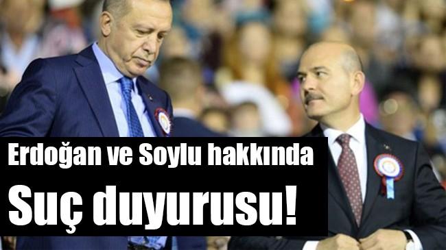Erdoğan ve Soylu hakkında suç duyurusu