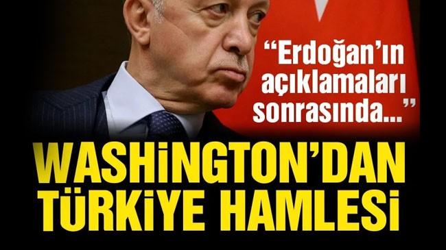 Washington'dan Türkiye Hamlesi